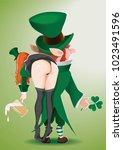 saint patrick's day concept... | Shutterstock .eps vector #1023491596
