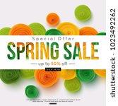 special offer vector spring... | Shutterstock .eps vector #1023492262