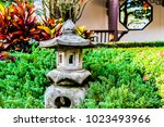landscaped gardens with stone... | Shutterstock . vector #1023493966