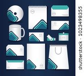 stationary templates design | Shutterstock .eps vector #1023498355