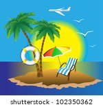 aircraft and the sea | Shutterstock .eps vector #102350362