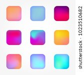 set of icons of buttons with...   Shutterstock .eps vector #1023510682