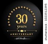 30 years anniversary... | Shutterstock .eps vector #1023512395