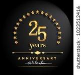 25 years anniversary... | Shutterstock .eps vector #1023512416