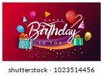 happy birthday typography... | Shutterstock .eps vector #1023514456