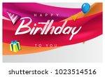 happy birthday typography... | Shutterstock .eps vector #1023514516