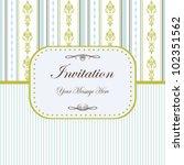 vintage card with damask... | Shutterstock .eps vector #102351562