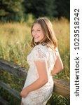 one caucasian high school...   Shutterstock . vector #1023518242