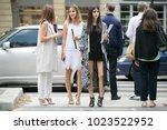 paris july 6  2016. street...   Shutterstock . vector #1023522952