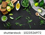 idea for a healthy and... | Shutterstock . vector #1023526972