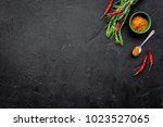 gastronomy  culinary. secrets... | Shutterstock . vector #1023527065