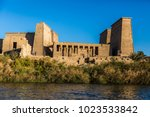philae temple in aswan on the... | Shutterstock . vector #1023533842