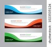 abstract modern banner...   Shutterstock .eps vector #1023535126