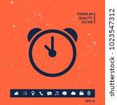 alarm clock icon   Shutterstock .eps vector #1023547312