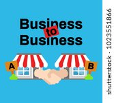 business to business or b2b... | Shutterstock .eps vector #1023551866