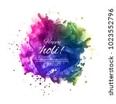 illustration of colorful happy... | Shutterstock .eps vector #1023552796