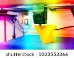 three dimensional printing... | Shutterstock . vector #1023553366