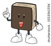 vector of book cartoon | Shutterstock .eps vector #1023561556