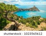 beautiful summer sea landscape...   Shutterstock . vector #1023565612