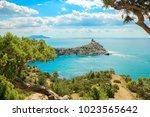 beautiful summer sea landscape...   Shutterstock . vector #1023565642