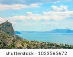 beautiful summer sea landscape...   Shutterstock . vector #1023565672