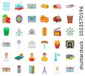 city executive icons set.... | Shutterstock .eps vector #1023570196