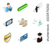 single individual icons set.... | Shutterstock .eps vector #1023570202