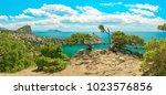 beautiful summer sea landscape...   Shutterstock . vector #1023576856