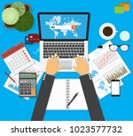searching engine optimizing seo ... | Shutterstock .eps vector #1023577732