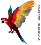 Parrot Spread Wings  Red And...