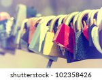Close Up Of Padlocks On Bridge...