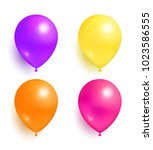 helium inflatable colorful... | Shutterstock .eps vector #1023586555