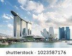 singapore   february 19  2017 ... | Shutterstock . vector #1023587176