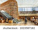 seoul  south korea   october 14 ... | Shutterstock . vector #1023587182