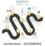 timeline infographic road map... | Shutterstock .eps vector #1023588562