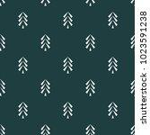 pine tree icon seamless vector... | Shutterstock .eps vector #1023591238