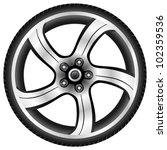 aluminum wheel   vector... | Shutterstock .eps vector #102359536