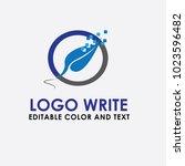 logo writing pen vector  design ... | Shutterstock .eps vector #1023596482