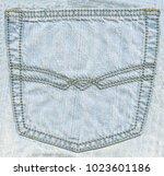 light blue jeans back pocket... | Shutterstock . vector #1023601186