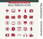 multimedia icon set | Shutterstock .eps vector #1023603766