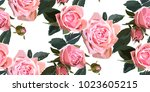 floral seamless background... | Shutterstock .eps vector #1023605215