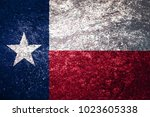 Texture Of The Flag Of Texas O...
