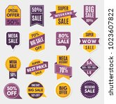 labels and tags with... | Shutterstock .eps vector #1023607822