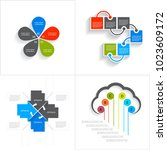 different infographic elements | Shutterstock .eps vector #1023609172