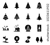 solid vector icon set  ... | Shutterstock .eps vector #1023611932