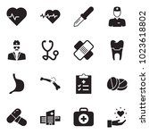 solid black vector icon set  ... | Shutterstock .eps vector #1023618802
