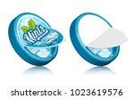mints gum package design  open...   Shutterstock .eps vector #1023619576