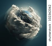 earth day  clouds planet in... | Shutterstock . vector #102362062