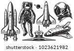 Set Of Vector Monochrome Of...
