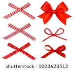 vector set of decorative... | Shutterstock .eps vector #1023623512